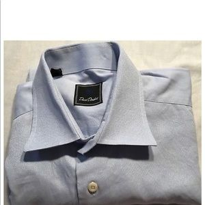 David Donahue Mens Dress Shirt Size 17 34/35 A833